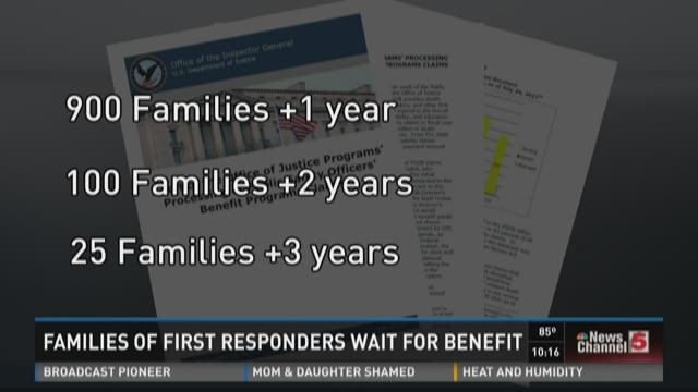Families of first responders wait for benefit