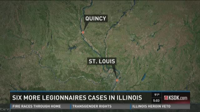 Six more Legionnaires cases in Illinois