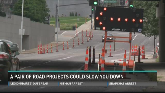 A pair of road projects could slow you down