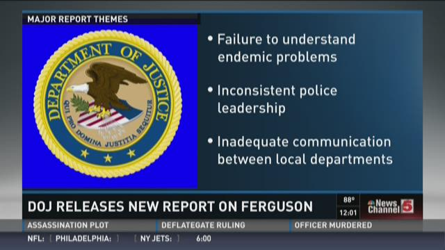 DOJ releases new report on Ferguson