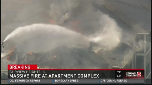 Fire at apartment complex