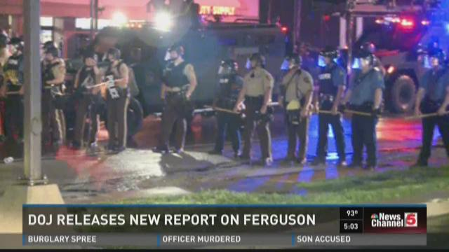 DOJ releases new report on Ferguson