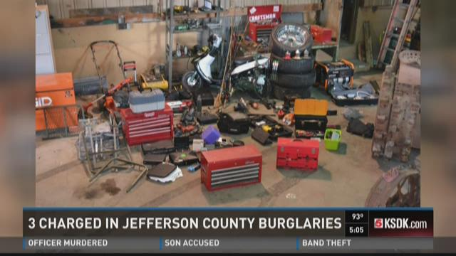Three charged in Jefferson County burglaries