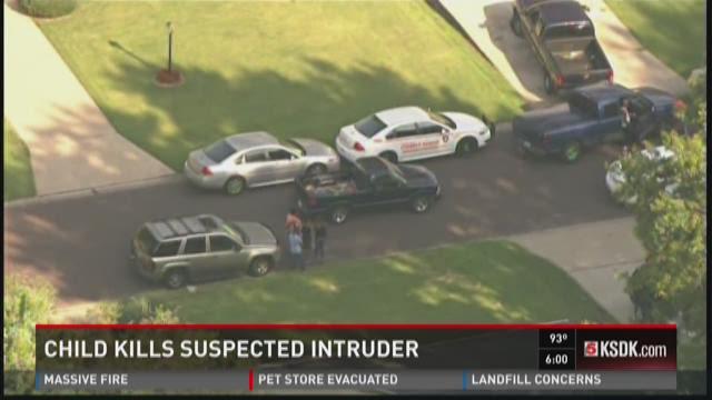 Child kills suspected intruder