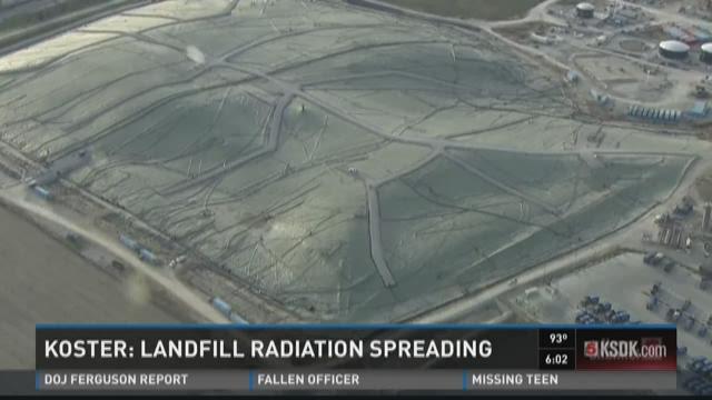 Koster: Landfill radiation spreading