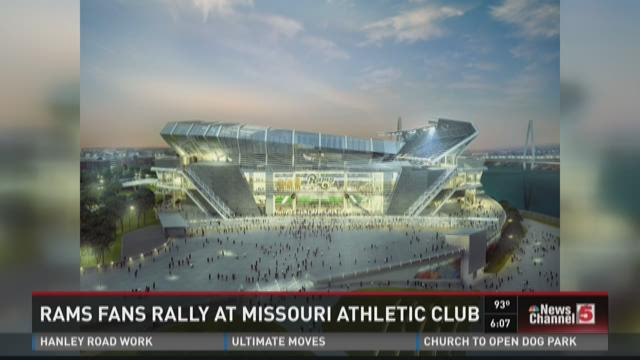 Rams fans rally at Missouri Athletic Club