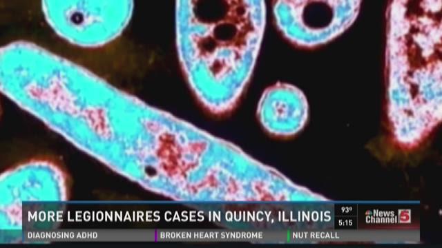 More Legionnaires cases in Quincy, Illinois
