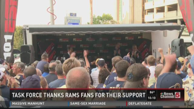 Task Force thanks Rams fans for their support