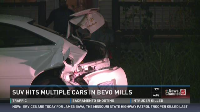 SUV hits multiple cars in Bevo Mill