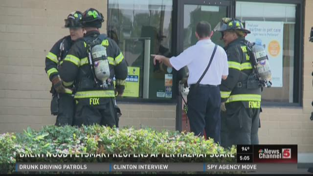 Brentwood PetSmart reopens after hazmat scare