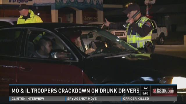 Mo. & Ill. troopers crackdown on drunk drivers