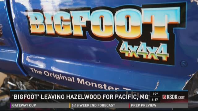 'Bigfoot' leaving Hazelwood for Pacific, Mo.