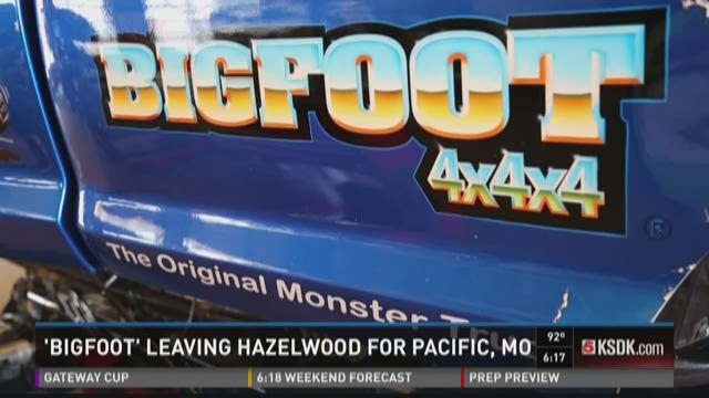 'Bigfoot' leaving Hazelwood for Pacific, Mo.