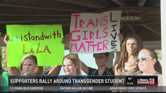 Supporters rally around transgender student