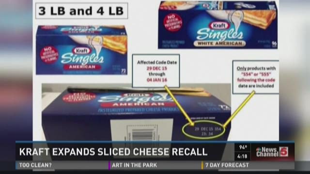 Kraft expands sliced cheese recall
