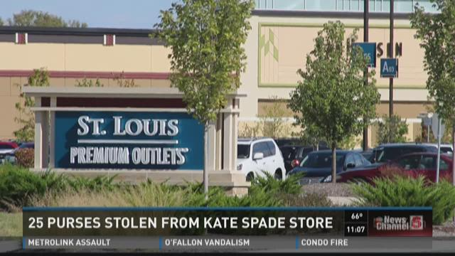 25 purses stolen from Kate Spade store