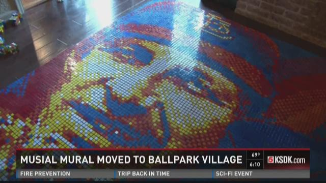 Musial mural moved to Ballpark Village