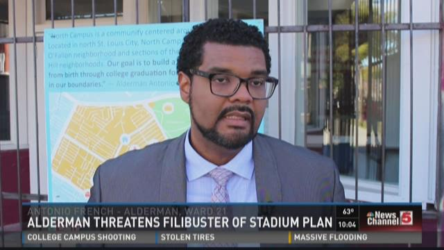 Alderman threatens filibuster of stadium plan