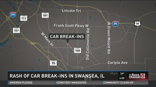 Rash of car break-ins in Swansea, Ill.
