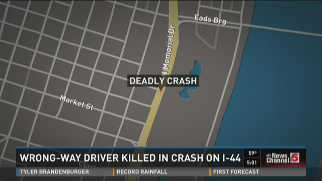 Wrong-way driver killed in crash on I-44