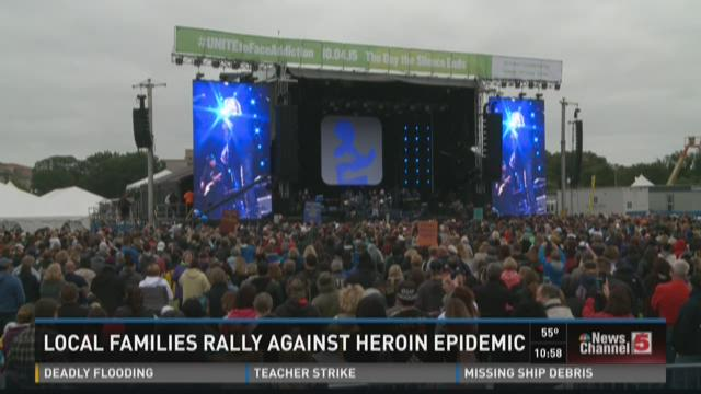 Local families rally against heroin epidemic