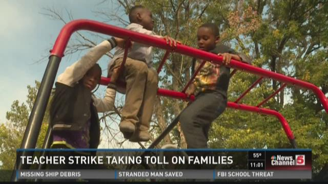 Teacher strike taking toll on families