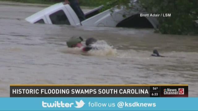Historic flooding swamps South Carolina