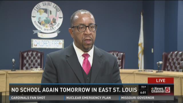 No school again tomorrow in East St. Louis