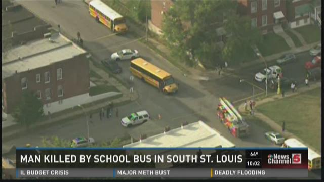 Man killed by school bus in south St. Louis