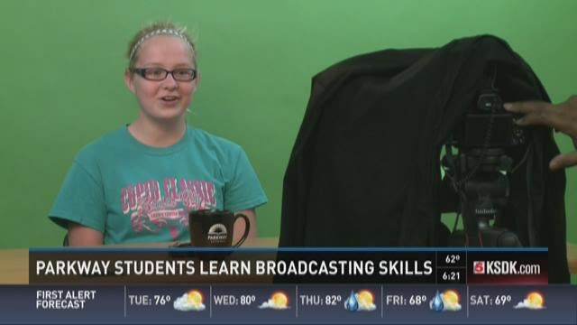 Parkway students learn broadcasting skills
