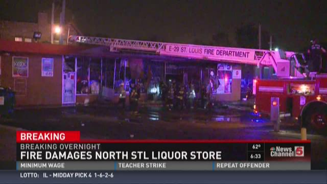 Fire damages north STL liquor store