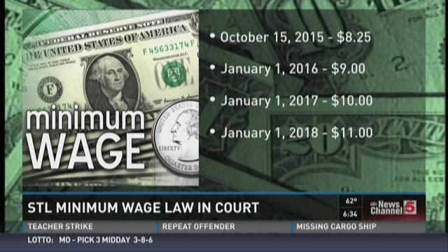STL minimum wage law in court