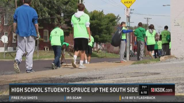 St. Mary's students spruce up the Southside