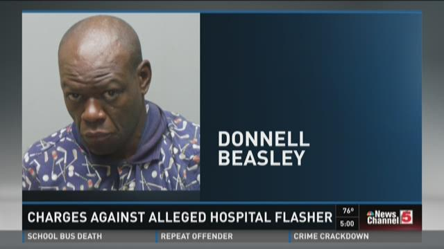 Charges against alleged hospital flasher
