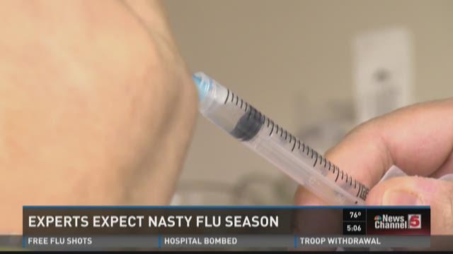 Experts expect nasty flu season