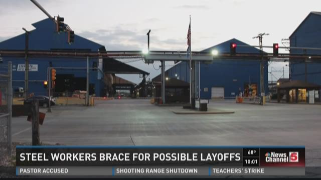 Steel workers brace for possible layoffs