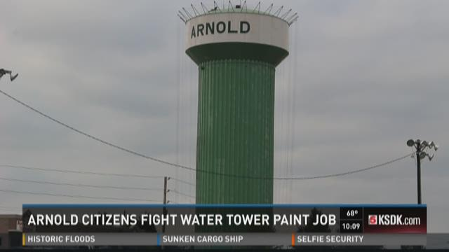 Arnold citizens fight water tower paint job