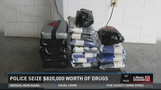 Police seize $820,000 worth of drugs