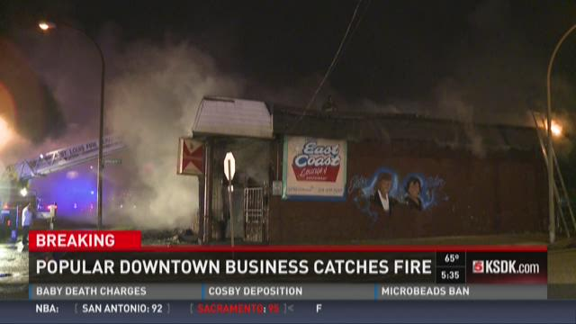 Popular downtown business catches fire