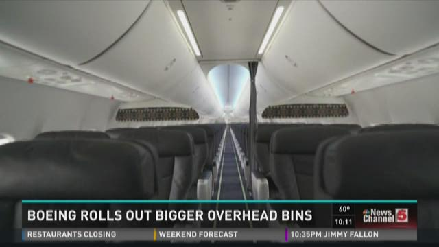 Boeing rolls out bigger overhead bins