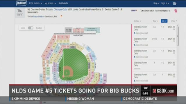 NLDS game %235 tickets going for big bucks