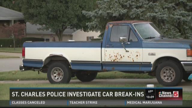 St. Charles police investigate car break-ins