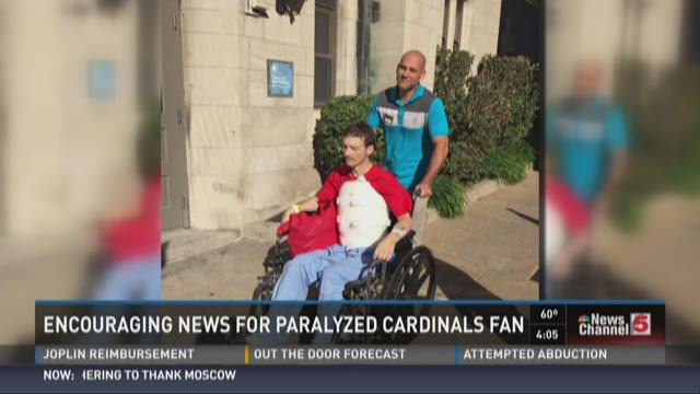 Encouraging news for paralyzed Cardinals fan