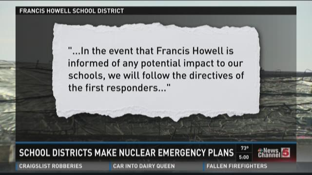 School districts make nuclear emergency plans