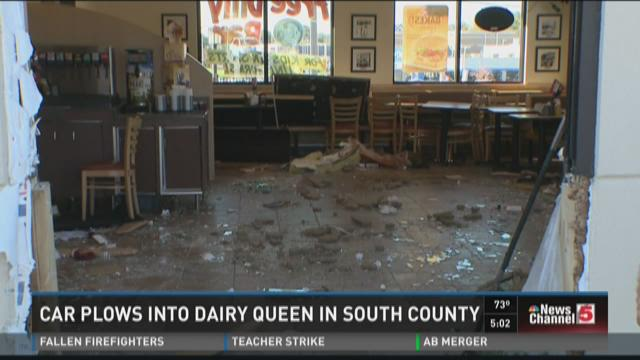 Car plows into Dairy Queen in South County