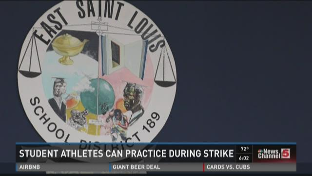 Student athletes can practice during strike