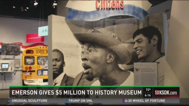 Emerson gives $5 million to history museum