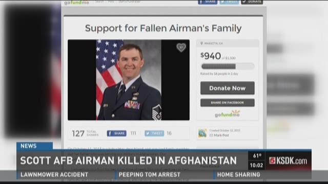Scott AFB Airman killed in Afghanistan