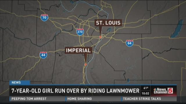7-year-old girl run over by riding lawnmower