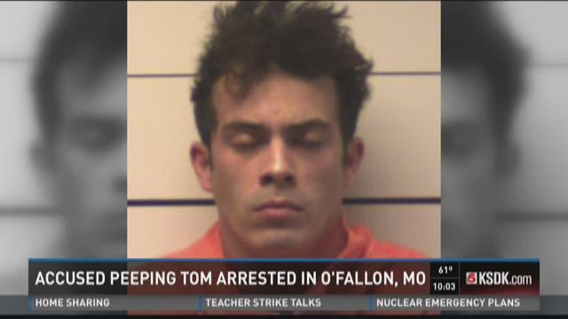 Accused peeping tom arrested in O'Fallon, Mo